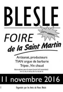 Foire de la Saint Martin à Blesle