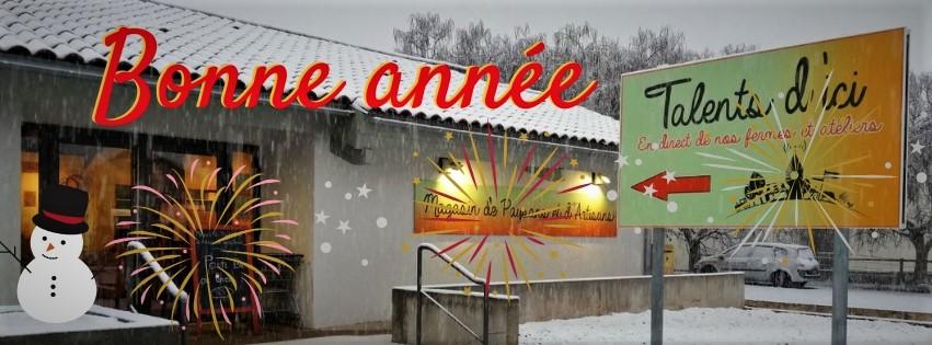 le magasin de producteurs en Auvergne vous souhaite une bonne année 2020