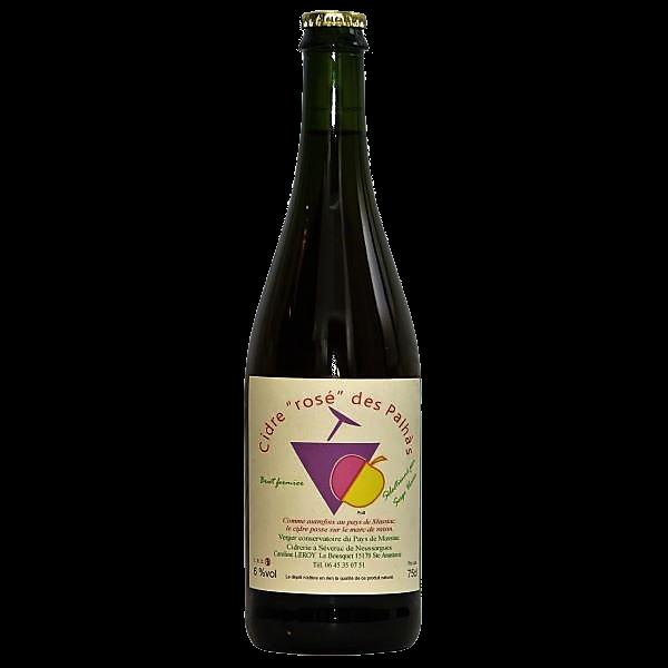 Cidre rosé des Palhàs du Cantal en Auvergne produit par Caroline Leroy