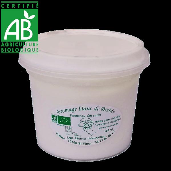 Fromage blanc au lait entier de brebis en AUvergne