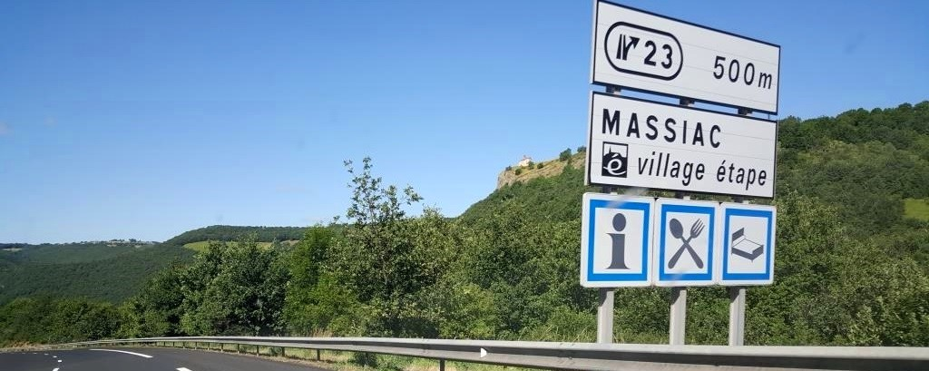 sur l'A75, Massiac a le label village étape