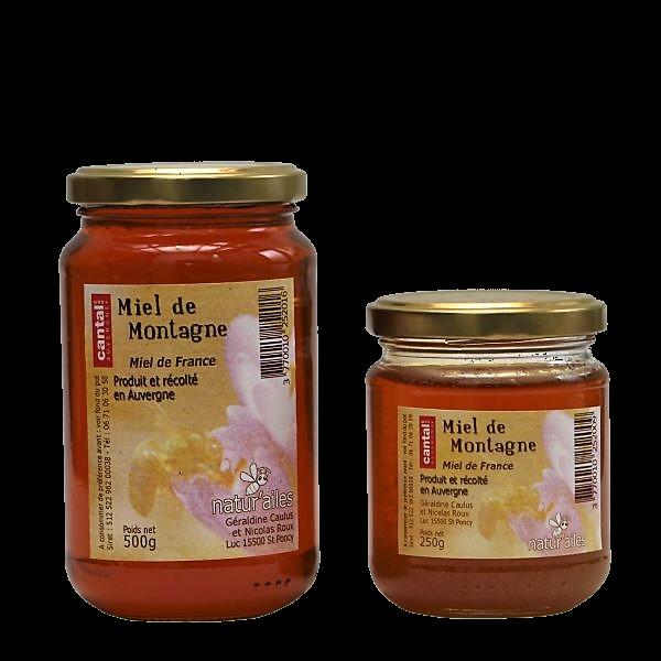 Miel de montagne - toutes fleurs - Miellerie Natur'Ailes - Cantal Auvergne