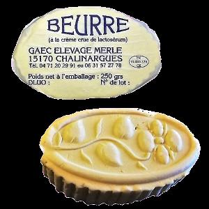Beurre fermier fabriqué par le GAEC Merle - Auvergne