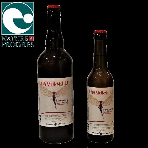 Bière blonde artisanale bio brassée en Auvergne La Damoiselle