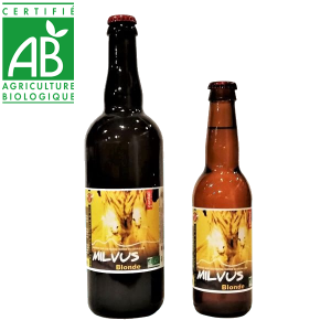 Bière artisanale bio blonde La Milvus brassée en Auvergne