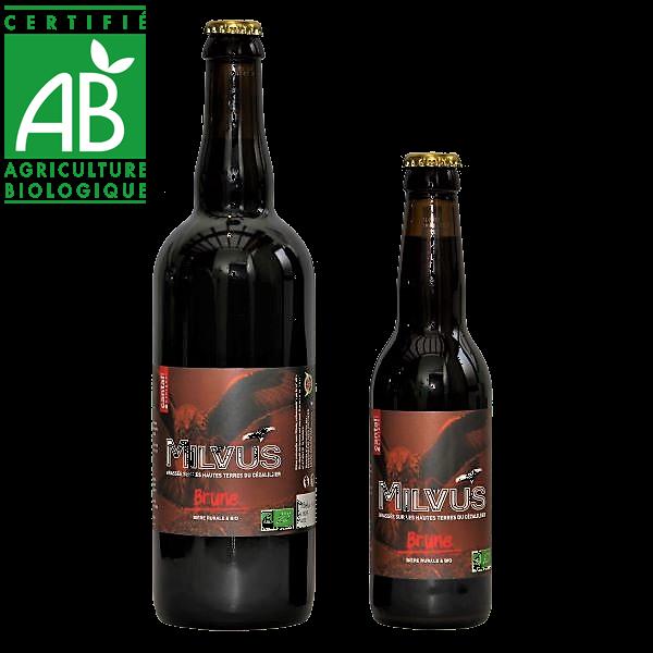 Bière brune bio brassée par la brasserie des Estives - Cantal