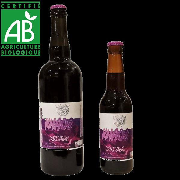 Bière artisanale bio noire La Khaos brassée en Auvergne