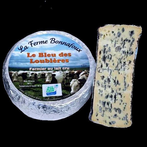Bleu des Loubières : fromage fermier AOP fabriqué par la ferme Bonnafoux