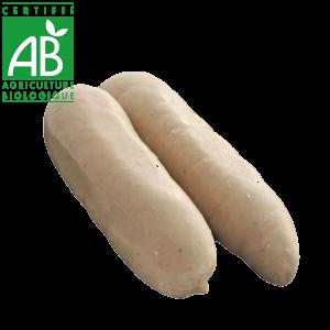 boudin blanc de poulet bio fermier d'Auvergne