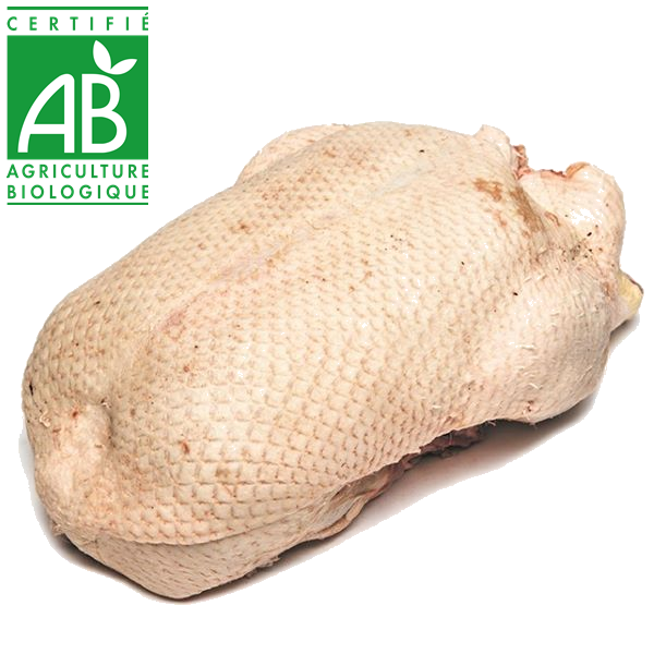 canard de barbarie bio entier pac de la ferme Aubijoux en Auvergne