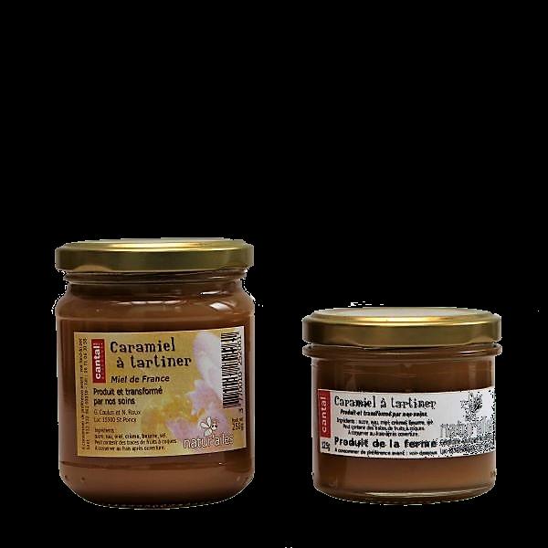 Pâte à tartiner caramel et miel - Miellerie Natur'Ailes - Cantal Auvergne