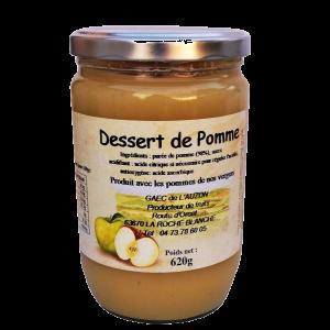 Dessert de pomme compote GAEC de l'Auzon AUvergne