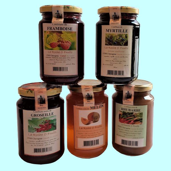 Confitures artisanales aux fruits d'Auvergne