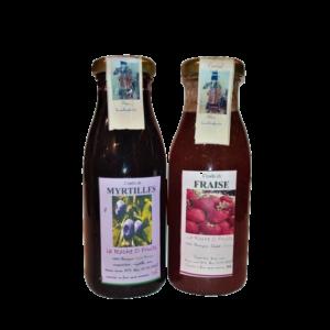 Coulis de fruits fabriqué en Auvergne - Myrtilles et fraises