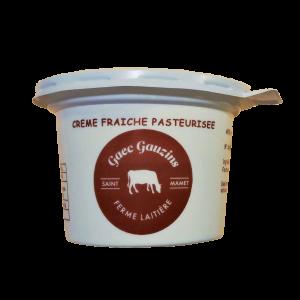 crème fraîche pasteurisée produite à la ferme en Auvergne
