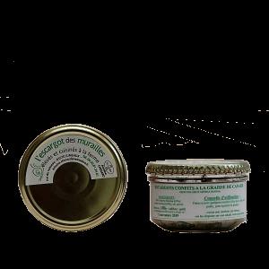 Escargots confits à la graisse de canard élevés et fabriqués en Auvergne