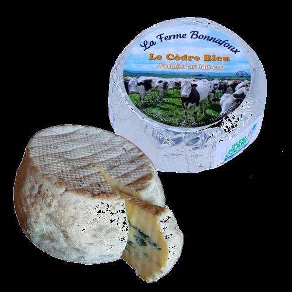 Le cèdre bleu : fromage fermier fabriqué par la ferme Bonnafoux