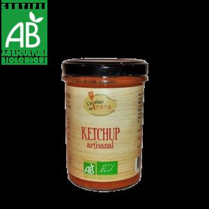 Ketchup bio fabriqué en Auvergne à partir de légumes issus de l'agriculture biologique