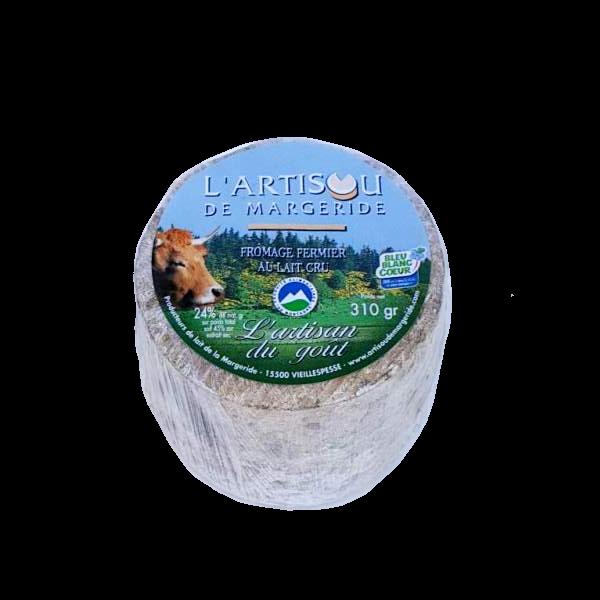 L'Artisou de la Margeride : fromage fermier au lait cru fabriqué par la ferme Bonnafoux