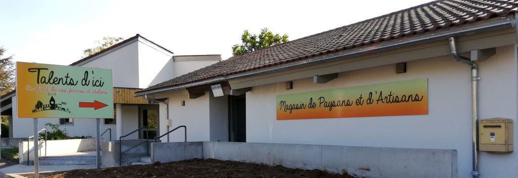Entrée magasin de producteurs à Massiac Auvergne