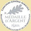 Médaille d'Argent au concours de Paris du Salon de l'Agriculture