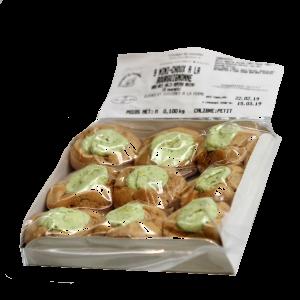 mini-choux d'escargots à la bourguignonne