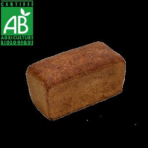 Pain bio au levain et farine complète fabriqué par La Mie Chamalou - Auvergne