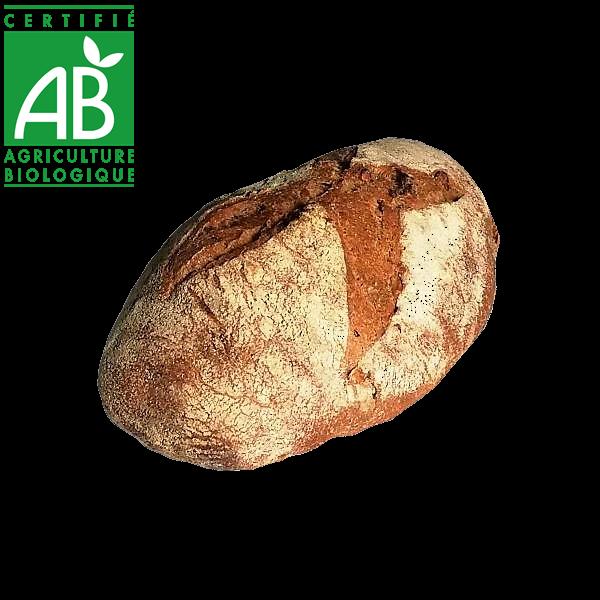 Pain bio au levain et aux noix fabriqué par La Mie Chamalou - Auvergne