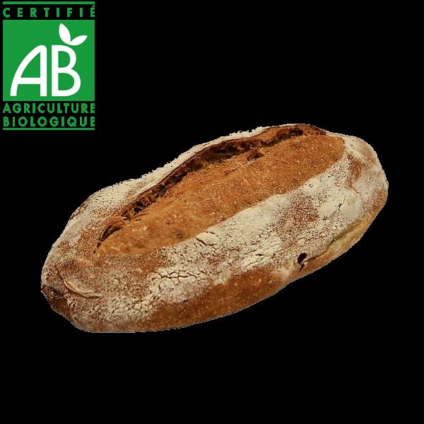 Pain bio au levain et farine semi-complète fabriqué par La Mie Chamalou - Auvergne