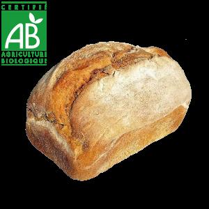 Pain bio au levain et farine semi-complète fabriqué par la Ferme des Coqs'Licots - Auvergne