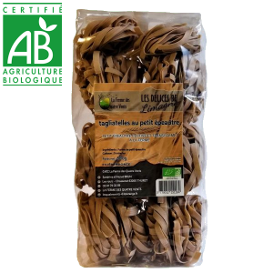 Pâtes tagliatelles bio au petit épeautre cultivé à la ferme des 4 vents en Auvergne