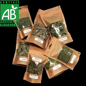 plantes aromatiques bio séchées et produites en Auvergne