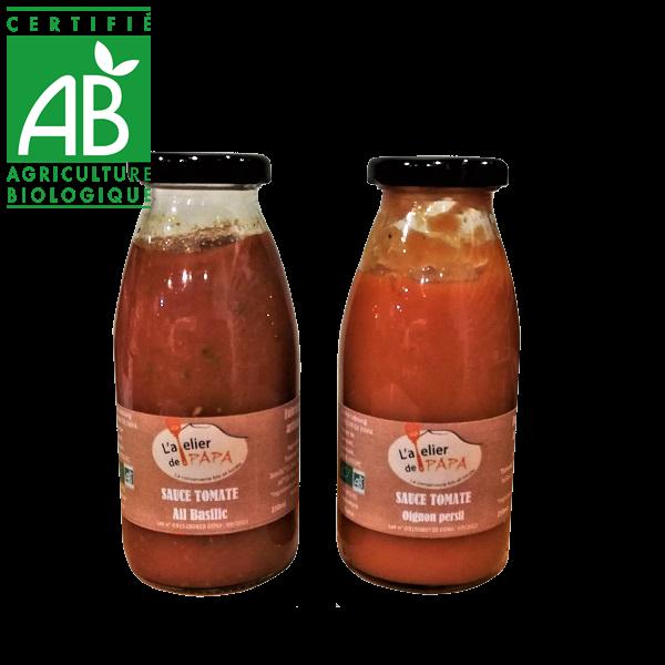 Sauce tomate à base de légumes bio d'Auvergne
