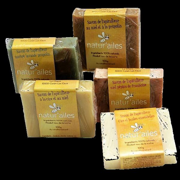 Savon de l'apiculteur au miel - Miellerie Natur'Ailes - Cantal Auvergne