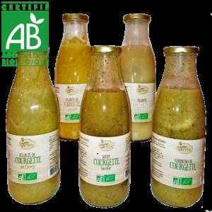 Soupes et Veloutés artisannaux fabriqués en Auvergne à partir de légumes bio