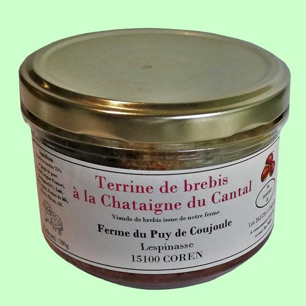 Pâté de viande de brebis à la châtaigne du Cantal
