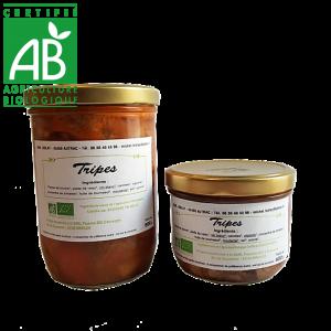 Tripes bio cuisinées en Auvergne