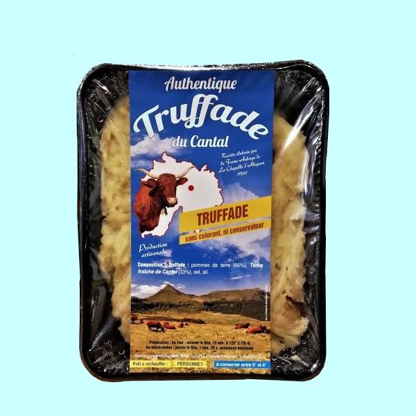 Véritable truffade d'Auvergne avec tome fraîche prête à réchauffer