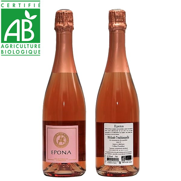 vin rosé mousseux bio Epona Gilles Persilier