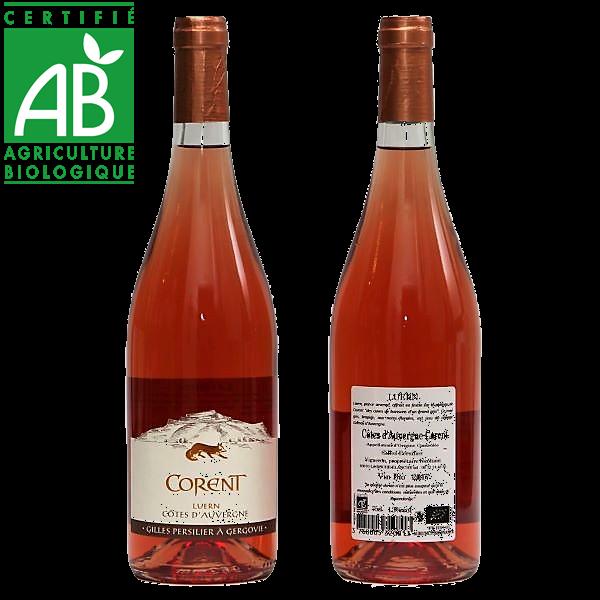 vin rosé bio Côtes d'Auvergne Corent AOC Gilles Persilier
