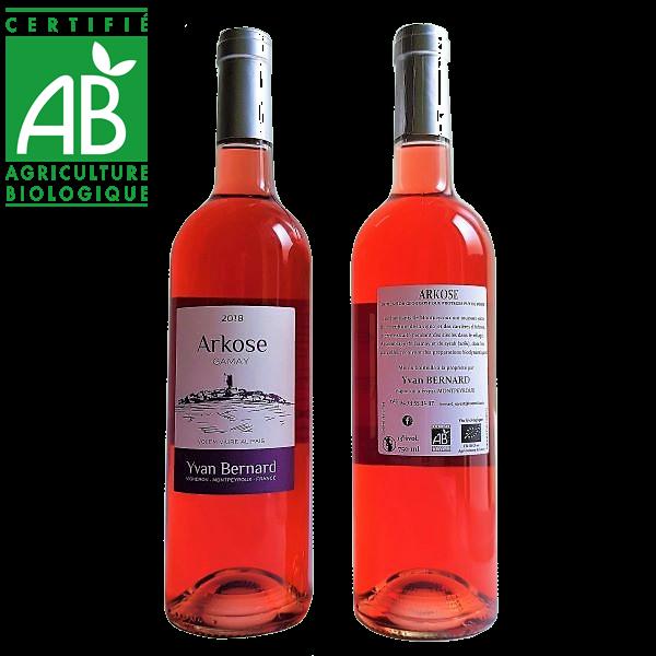 vin rosé bio IGP Puy de Dôme Arkose d'Yvan Bernard