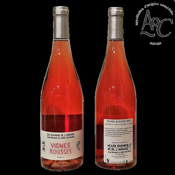vin rosé côtes d'Auvergne AOC Vignes rousses Yvan Bernard