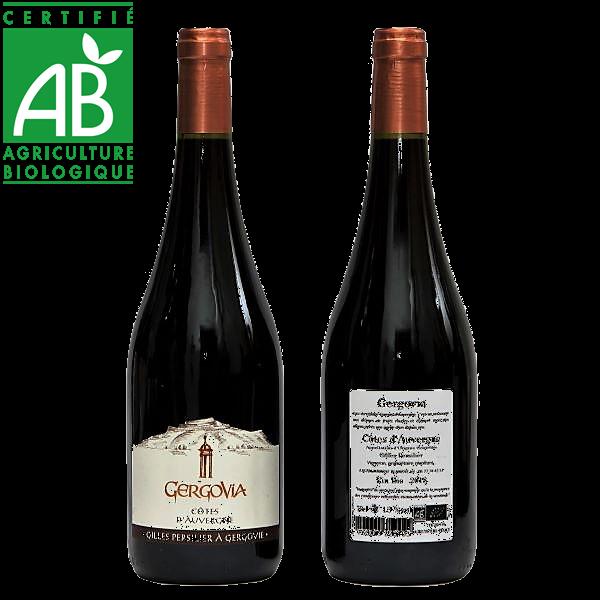 vin rouge bio Côtes d'Auvergne AOC - Gergovia - Gilles Persilier